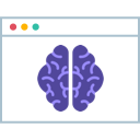 Software UI window with purple brain